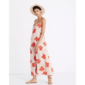 Madewell Morocco CoverUp Maxi Dress Candied Orchid
